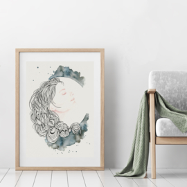 A3 Art Print | Full Moon Muse