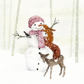 Postkaart | Winter Sneeuwpop