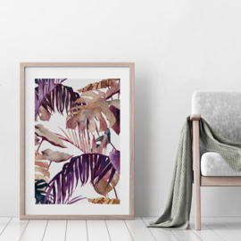 Art Print | Purple Palm