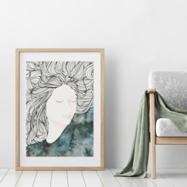 A3 Art Print | Dreaming Muse