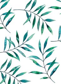 Postkaart | Blue Green Leaves