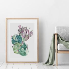 Art Print | Cactus Green Pink
