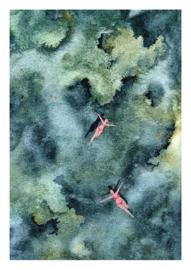 A3 Art Print   Blue Reef