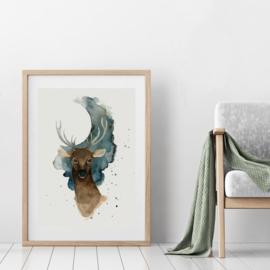 Art Print | Full Moon Deer