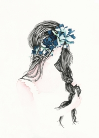 Postkaart | Girl with Flowers