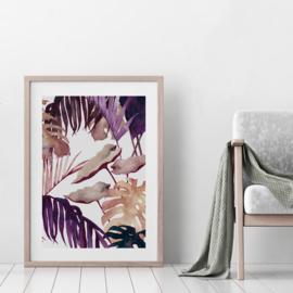 Art Print | Aubergine Palm