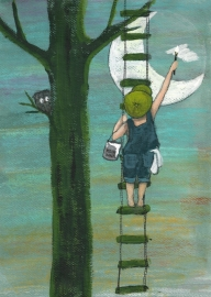 Art Print | Painting a Full Moon