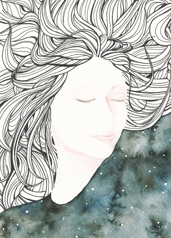 A5 Art Print | Dreaming Muse