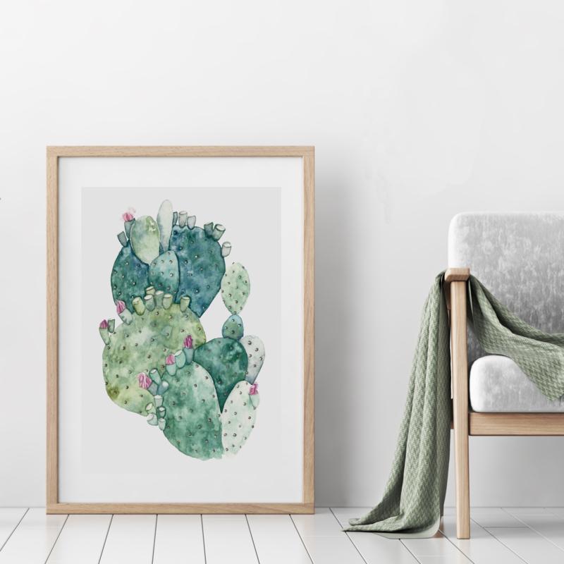 A3 Art Print | Cactus Green