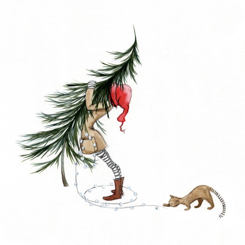 Postkaart | Winter Kerstboom