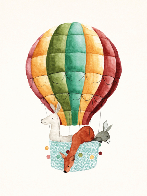 Mini Poster | Luchtballon