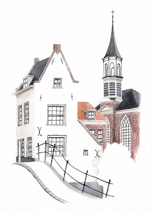 Postkaart | Amersfoort Heksenbrug/Elleboogkerk