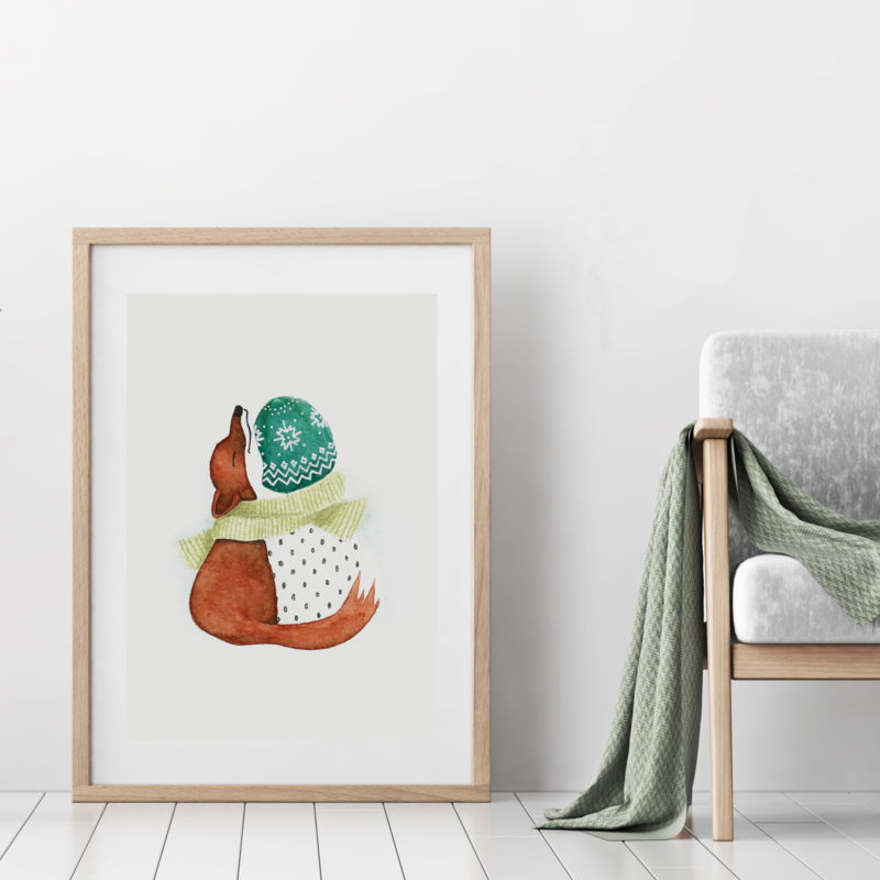 A3 Art Print | Fox