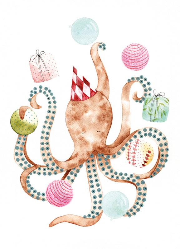 Postkaart | Circus Octopus