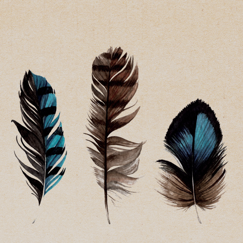 LIMITED EDITION | Dubbele kaart | FEATHERS (LYD10)