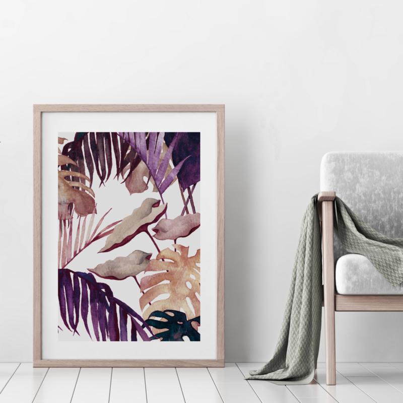 A3 Art Print | Aubergine Palm