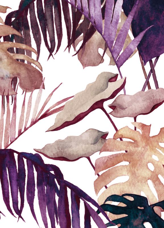 A5 Art Print | Aubergine Palm