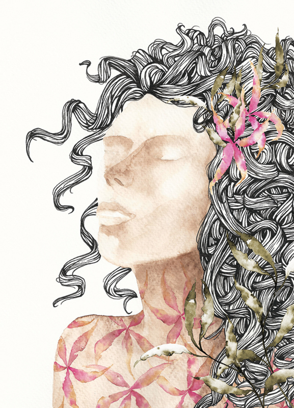A5 Art Print | Summer Haze Girl
