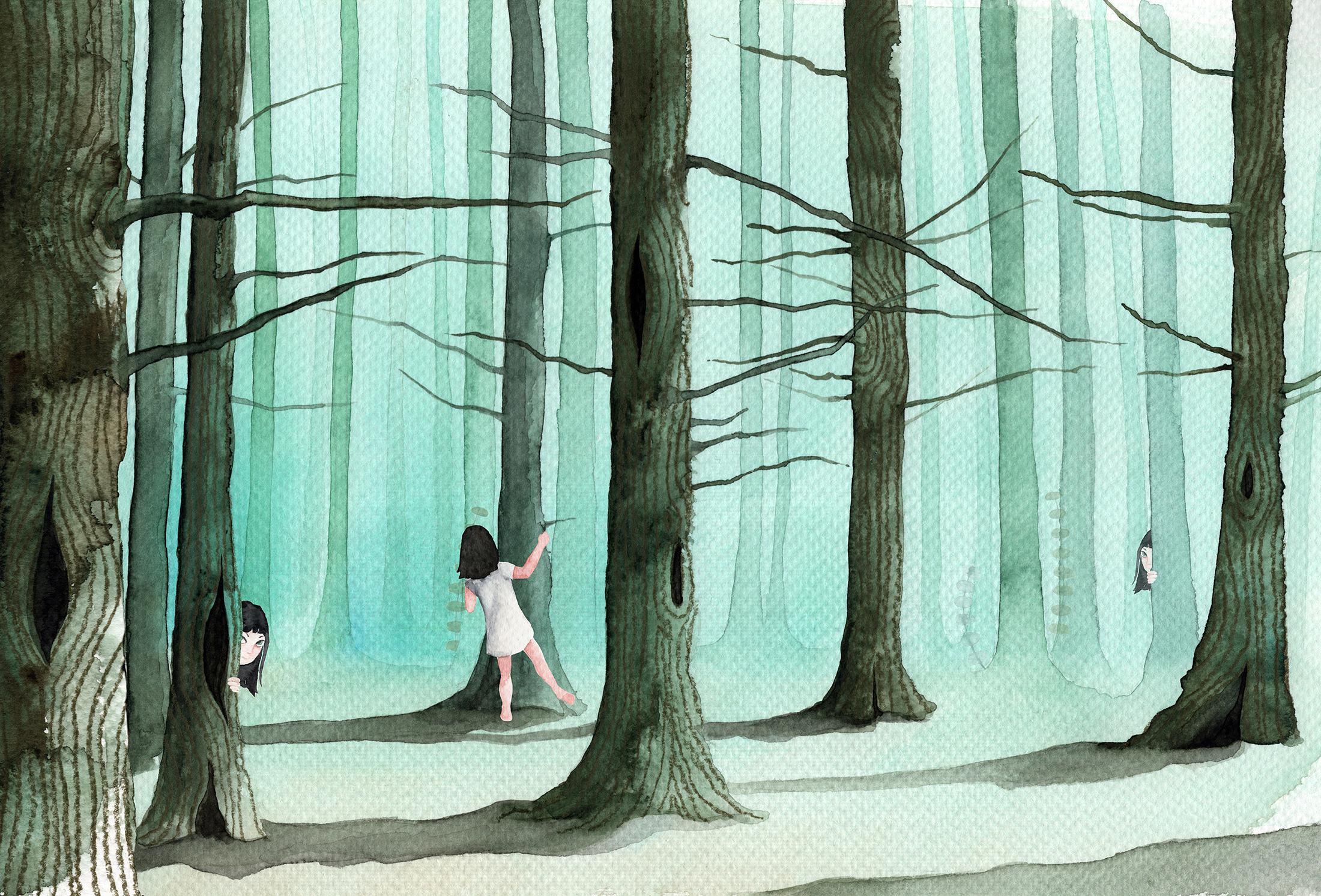 Ava in het bos