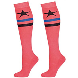 Harry's Horse Kousen Striped Star, rouge-red, mt. S (31-35)