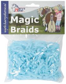 Magic braids, 500 stuks, lichtblauw