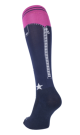 FairPlay rijsokken Chaps Navy-Pink mt. M (36-41)