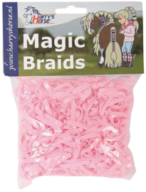 Magic braids, 500 stuks, Roze