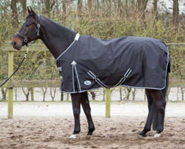 Harry's Horse Thor deken 0 grams met fleece lining Zwart