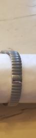 Flexibele armband zilver 1045-8 met koper maat XL