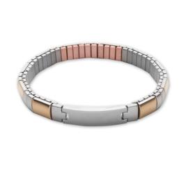 Flexibele armband zilver/goud 183-17 XL, met koper