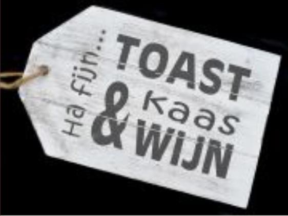 Ha fijn .... Toast Kaas & Wijn - dienblad