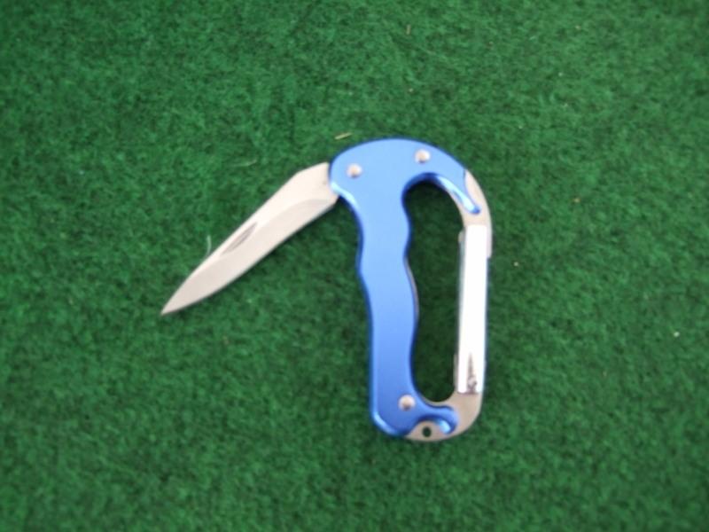 Karabina met mesje (lichtblauw)