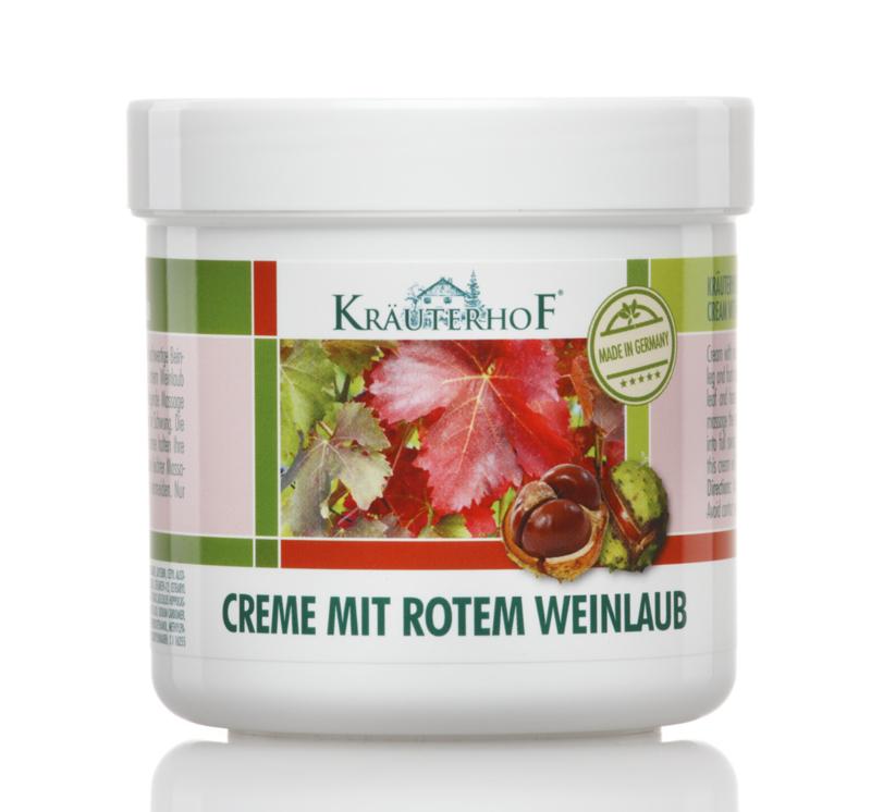 2X Kräuterhof®balsem tegen spataderen(creme mit rotemweinlaub)