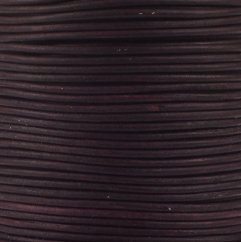 Leren koord, vintage, violet, 2mm, 100 meter