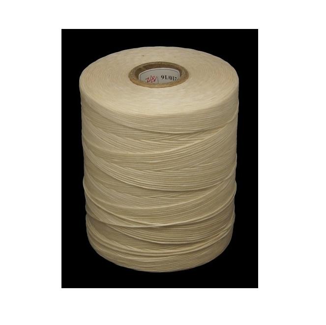 Waxkoord, extra wax, ivoorwit, 0,8 mm, 300 meter