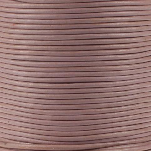 Leren koord, licht paars, 2mm, 100 meter