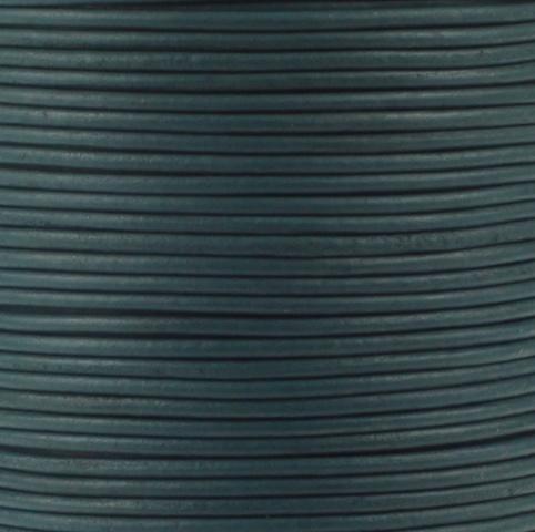 Leren koord, vintage, oceaanblauw, 2mm, 100 meter