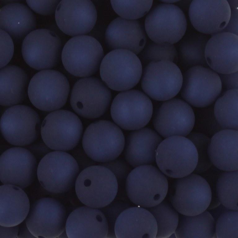 Polaris kralen, rond, montana blauw, mat, 6 t/m 12mm