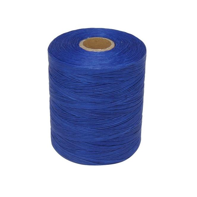 Waxkoord, extra wax, blauw, 0,8 mm, 125 meter