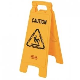 "HCGG991 - Rubbermaid meertalig waarschuwingsbord ""Caution"""