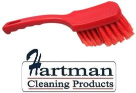 61630110-3 - FBK Handborstel hoogwaardig zacht, gespleten vezel, 275 x 70 mm, rood 10547