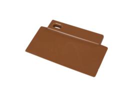 38180106-12 - FBK Spatel - schraper hoogwaardige kleurcode 200 x 125 mm polypropyleen bruin 81900