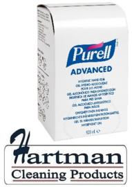 P9657-12 - Gojo Purell advanced, handsanitizer gel 12 x 800 ml. p/ds