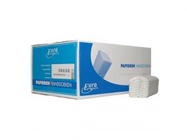 P50658 - Euro C-fold papieren handdoekjes tissue C-vouw 2-laags 25 x 33 cm wit, colli 2880 stuks