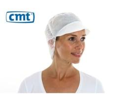 816154 - CMT PPnw pet met klep en haaropvang, wit 'snood cap