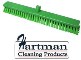 22010128-5 - FBK Hoogwaardige kleurcode HACCP Polyester hygiënische kunststof medium bezem 600 x 60 mm  groen 27156