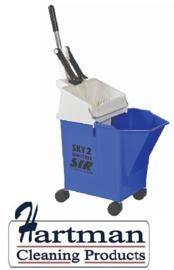 992346 - SYR Mobile mopsysteem met geïntegreerde wringer 8 liter kleurcode blauw