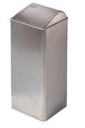 11072 - Afvalbak RVS 80 liter gesloten MEDICLINICS