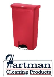 GL032 - Rubbermaid pedaalemmer rood 68 ltr