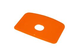 60680114 - Hoogwaardige kleurcode HACCP hygiënische deegschraper 146 x 98 mm oranje
